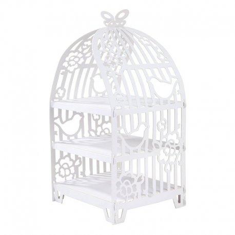 Présentoir à Cupcakes Cage à Oiseaux