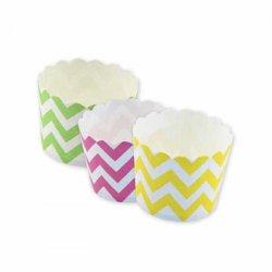 Moules à Cupcakes Motif Chevron