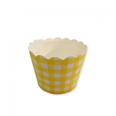 Moules à Cupcakes Motif Carreaux
