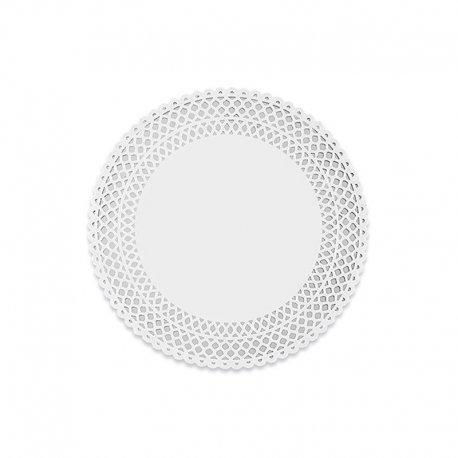 10 Napperons De Papier 21 cm