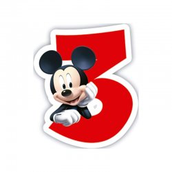 Bougie Mickey Mouse Nº3