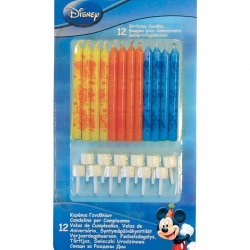 12 Bougies Mickey Mouse d'Anniversaire