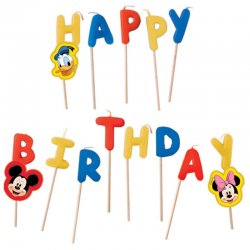 Bougies Mickey Mouse Happy Birthday