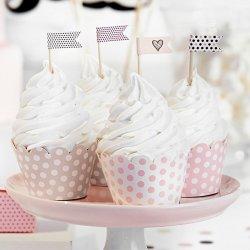 6 Caissettes Roses pour Cupcake