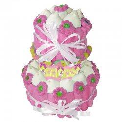Gâteau de Bonbons Baptême Fille