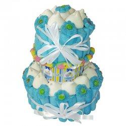 Gâteau de Bonbons Baptême Garçon