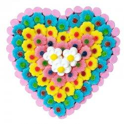 Gâteau de Bonbons Fleurs en Coeur 600 G