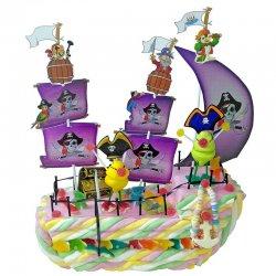 Gâteau de Bonbons Bateau de Pirates 700 G