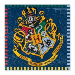 16 Serviettes De Harry Potter 33cm